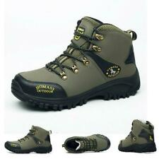 Men's waterproof lightweight leather winter outdoor camping hiking boots shoes