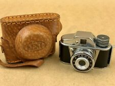 KENT Hit Type Vintage Subminiature Camera w/Leather Case - Clean !
