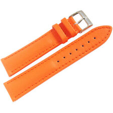 20mm Eulit LORICA Orange Vegan Faux Leather Waterproof German Watch Band Strap