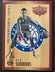2016-17 Upper Deck UD Supreme Hard Court Ben Simmons 76ers RC Rookie 33/65