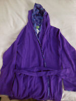 NWT Vera Bradley KNIT ROBE in PURPLE LILAC TAPESTRY Large-XL 18211-D60 16-18