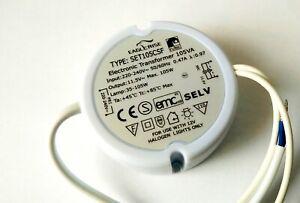 █► Elektr. Trafo IKEA SET105CS Rund - 35-105Watt Halogen - Dimmbar 105 Watt