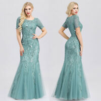 Ever-Pretty Sequins Long Bridesmaid Dress Formal Mermaid Evening Prom Gown 07705