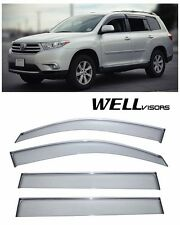 WellVisors Side Window Deflector Premium Series For 08-13 Toyota Highlander