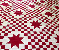 Red & White Triple Irish Chain Star  -  Very desireable & Best Seller Quilt Top