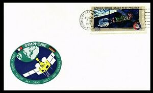 SYMPHONIE SATELLITE  launch with KENNEDY postmark on USA 1975 cover unaddressed