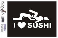 Aufkleber / Autoaufkleber - I Love Sushi - 160X80 mm DE2178
