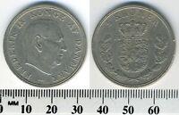 Denmark 1961 - 5 Kroner Copper-Nickel Coin - King Frederik IX