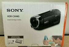 Sony HDR-CX440 HandyCam Full HD 30x Zoom Camcorder- Black, New