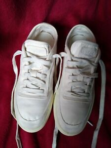 Reebok Classic Canvas Cream Recycled Trainers. Size 6. Retro style. Eco Remade