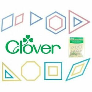Clover Patchwork Templates Quilting Crafting - Square Triangle Octagon Hexagon