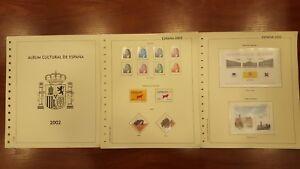 Año completo sellos de España 2002 con reparto serie pruebas y hojas Filgest A1