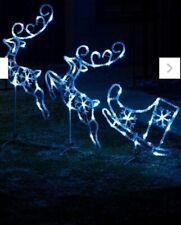 LED Acrylic Ice White Reindeer & Sleigh Set - Christmas Lights Decoration £49.99