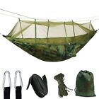 US Portable Double Hammock with Mosquito Net Netting Hanging Bed Outdoor Camping