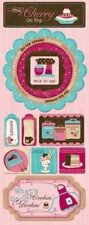 Bo Bunny SWEET TOOTH CHERRY ON TOP Cardstock Stickers Srapbooking Paper Crafts