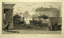 Gravure originale d'ALPHONSE TRIMOLET 19eme, LA BARRIERE DE MONTREUIL