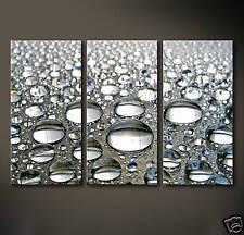 DROPS Leinwand Bilder Bild Wasser Tropfen Deko Schwarz Grau Weiß Kunstdruck XL