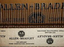 50 Allen Bradley Carbon Comp Resistor 100 ohm 1/2W 10%