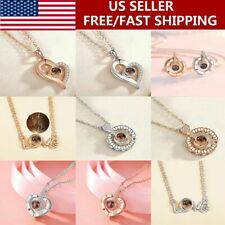 100 Languages Light I Love You Projection Pendant Necklace Valentine's Day Gifts