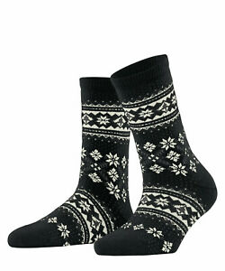 Falke Winter Holiday Women's Socks Patterned with Cashmere