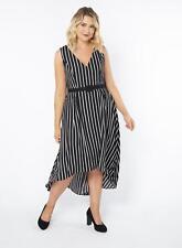 Lovedrobe Fit & Flare High Low Hem Belted Dress Size 20 Black