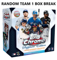 2020 Topps Chrome Sapphire Edition Baseball Live Random Team 1 Box Break #1