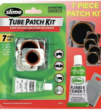 Slime Rubber Tube Patch Kit Glue Repair Puncture Tire Wheel bike Mowers Bicycles