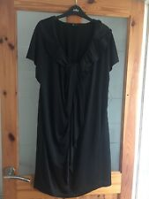 Jaeger Black floaty Dress - Size- 16 / 18 - Excellent Condition.