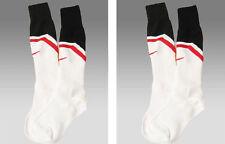 2 Pairs New Nike Manchester Football Socks White Adults L Uk 7.5- 11 Eur 42-47