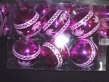 48 x  BAUBLES XMAS CHRISTMAS TREE/ HANGING DECORATION (NEW) LARGE 6 x 75mm