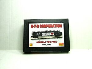 MICRO-TRAINS N SCALE O-T-D CORPORATION GONDOLAW/LOAD 2-PK 99301970