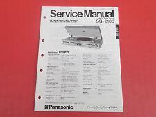 Panasonic sg-2100 Org. Service istruzioni manual
