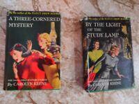 Dana Girl Mystery Books  #1 and #4  by Carolyn Keene author of Nancy Drew Books