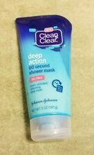 Clean & Clear deep action 60 second shower face mask - exfoliating - oil free