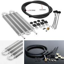 Car Aluminum 4-Row Remote Transmission Oil Cooler Manual Radiator Converter Kit