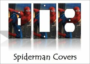 Spiderman Light Switch Covers Marvel Comics Home Decor Outlet