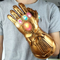 Adult PVC Thanos Infinity Gauntlet LED Light Gloves Cosplay Avengers War US