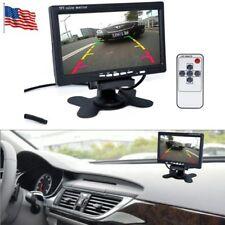 "7"" LCD TFT Color Screen Car Monitor DVD DVR for Car Rear View Backup Camera USA"