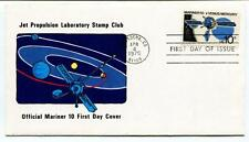 1975 Jet Propulsion Laboratory Stamp Club Official Mariner 10 First Day Cover
