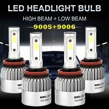 9005+9006 4PCS LED 1800W 270000LM Combo Headlight High + Low Beam 6500K Kits