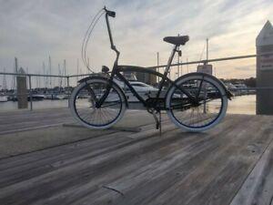 con suspensi/ón Bicicleta de una Velocidad de una Velocidad con Frenos de monta/ña y neum/áticos Anchos de Apoyo Beach Cruiser Bike Coral para Hombres con Estructura de Acero de 26