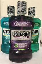 3- Variety Pack Listerine Mouthwash, Cool Mint + Total Care + Freshburst 1L Each