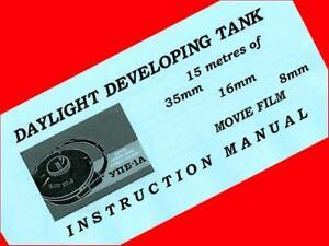 INSTRUCTION MANUAL BOOKLET ENGLISH f UPB-1 A LOMO developing TANK 8 16 35mm film