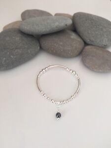 Sterling Silver And Hematite Bracelet. Sterling Silver And Gemstone Bracelets.