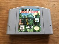 Army Men Sarge's Heroes Nintendo 64 N64 Cart AUTHENTIC! TESTED Free Shipping!