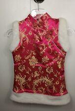 NEW pink Kids Cheongsam / Qipao / Chinese Dress for Winter Sz L chinese new year