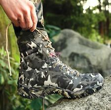 Camo Waterproof Outdoor Mens  Hiking Hunting Lace Up  Climbing Ankle Boots Shoes