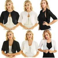 Summer Women Chiffon Jacket Shrug Bolero Crop Top Shirts Sheer Cardigan Outwear