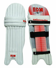 Ambassador Bdm Cricket Leg Guard Right Handed Pu Leather White Batting Pads 6701