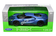 WELLY 2017 FORD GT 1/24 DIECAST MODEL CAR BLUE 24082BL